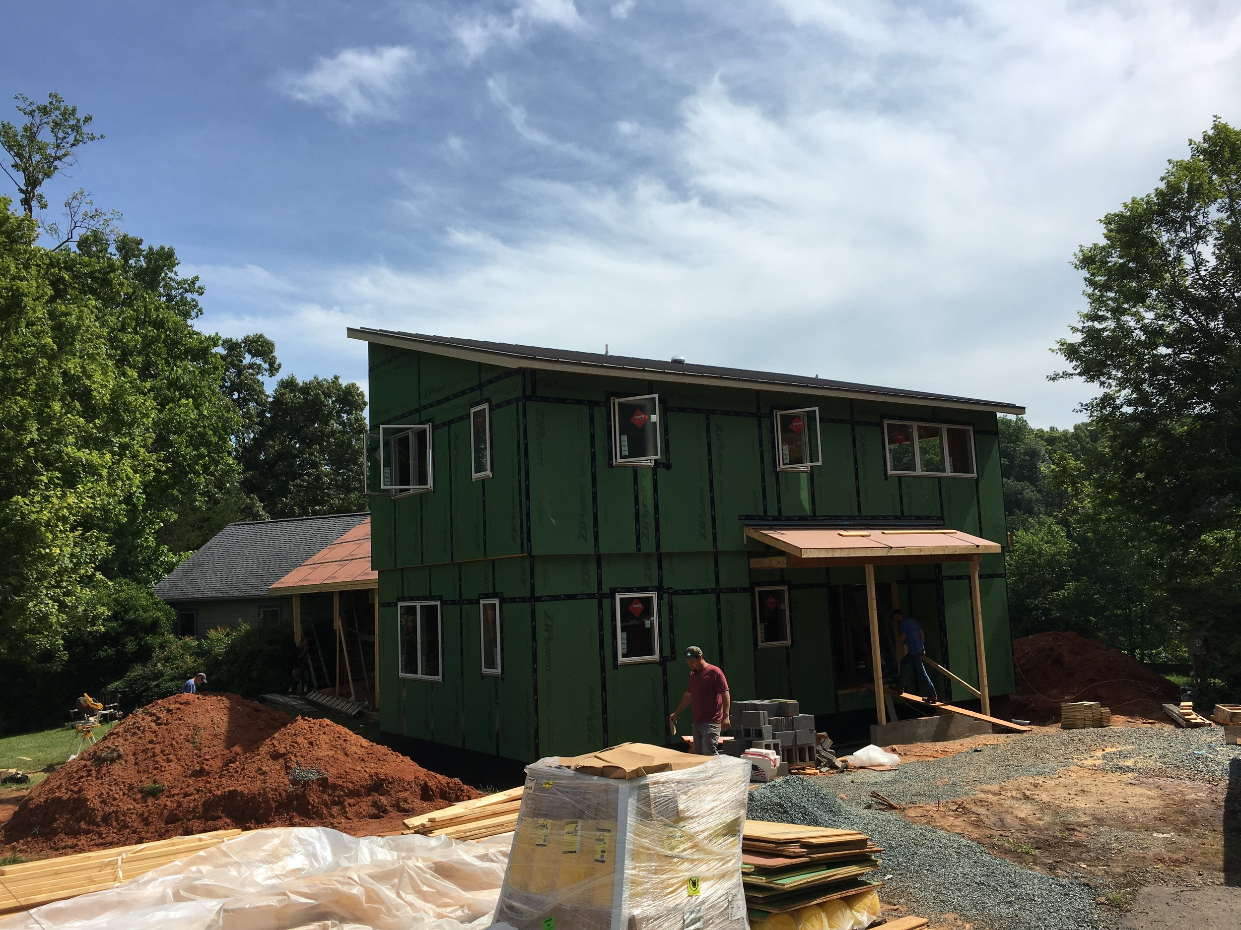 New Addition with sheathing and windows