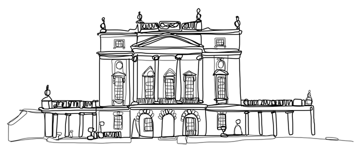 Doodle of The Holburne Museum in Bath