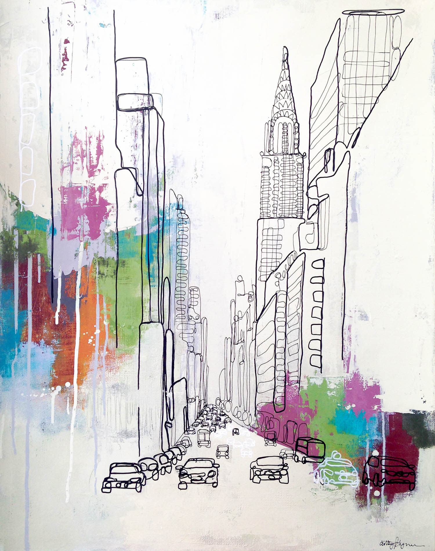 """""""leave your mark, new york"""" 24x30 inches"""