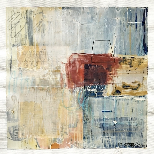 """You and Me (Rauschenberg)"" 12x12 inches"