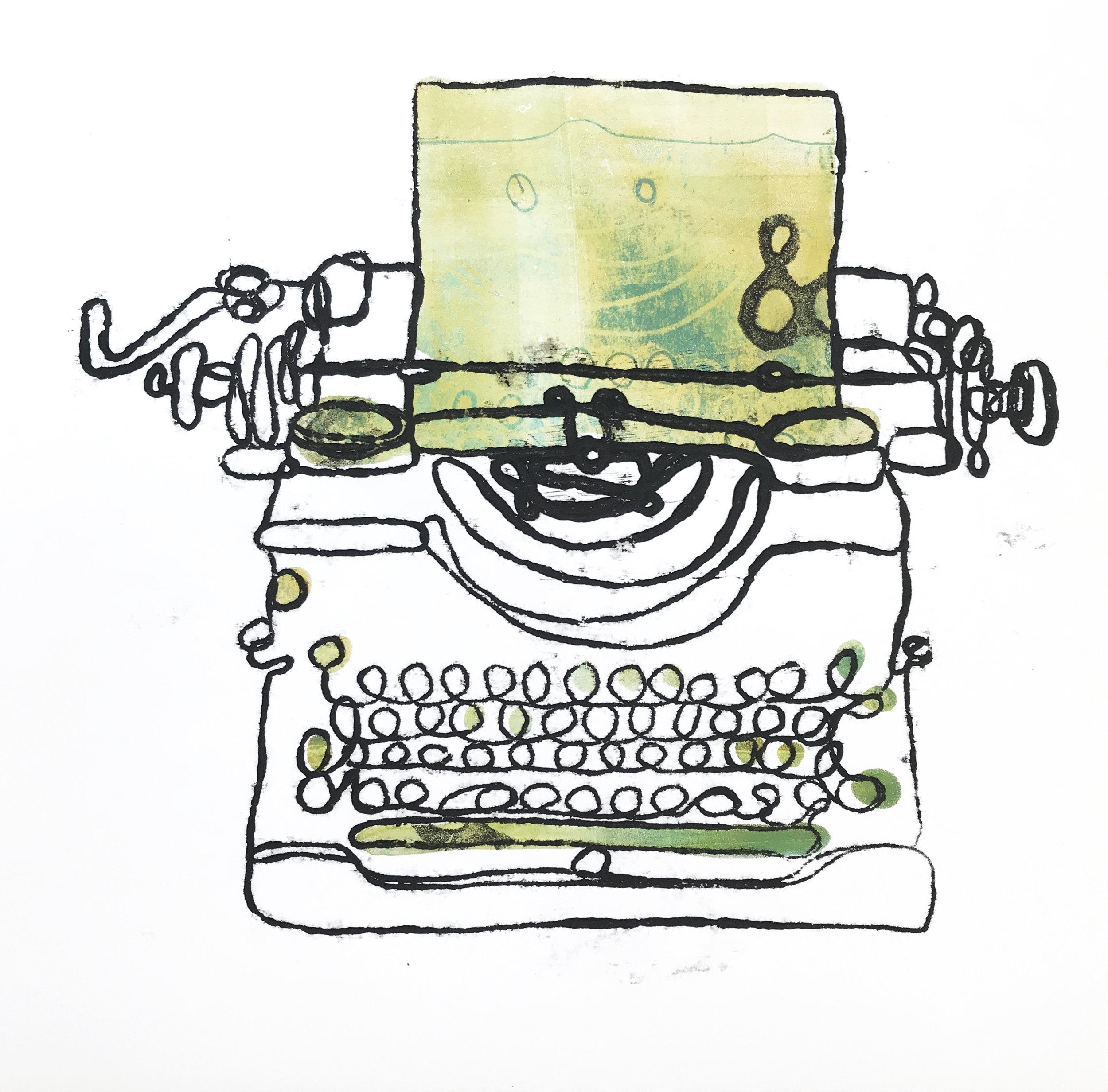 Typewriter Monoprint (number 2)