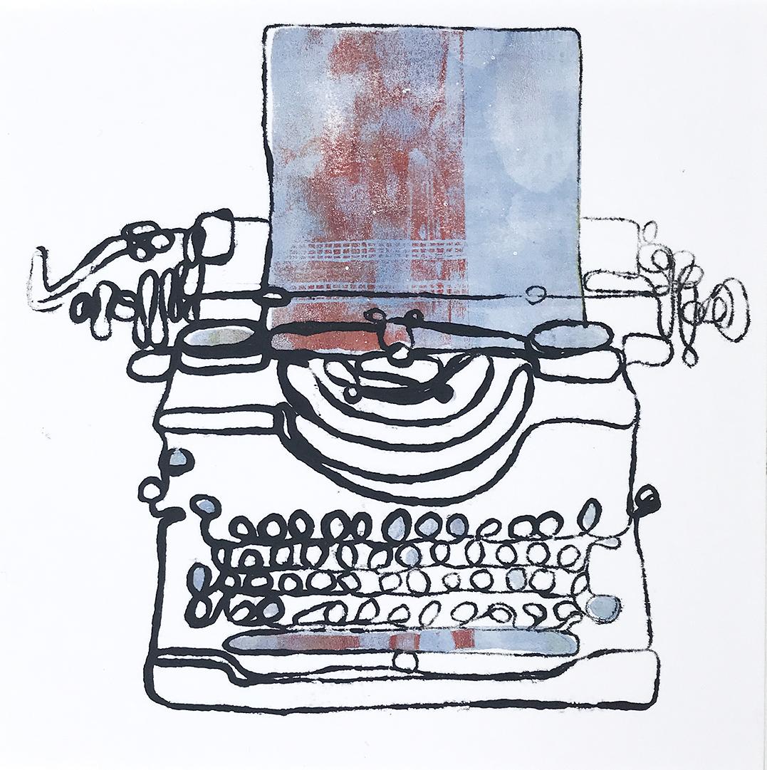 Typewriter Monoprint (number 6)