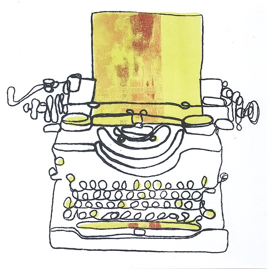 Typewriter Monoprint (number 5)