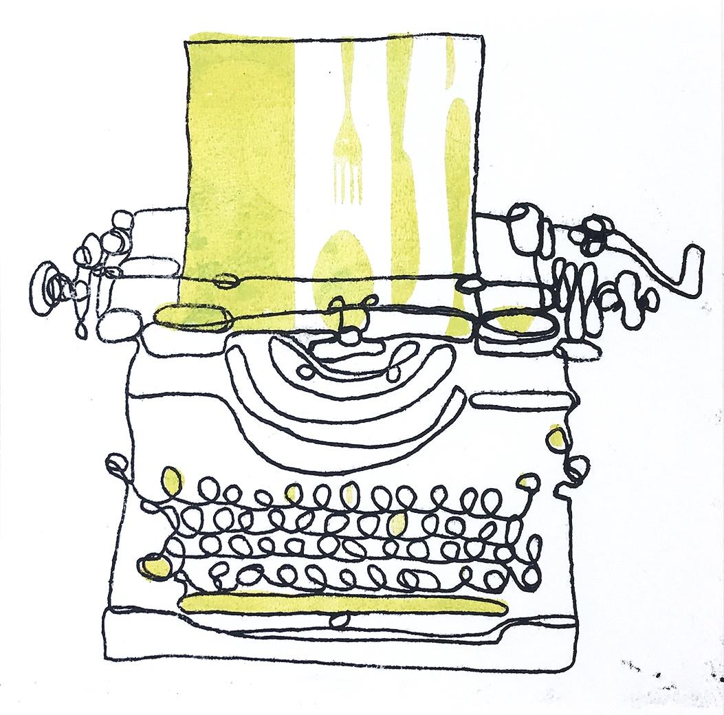 Typewriter Monoprint (number 8)