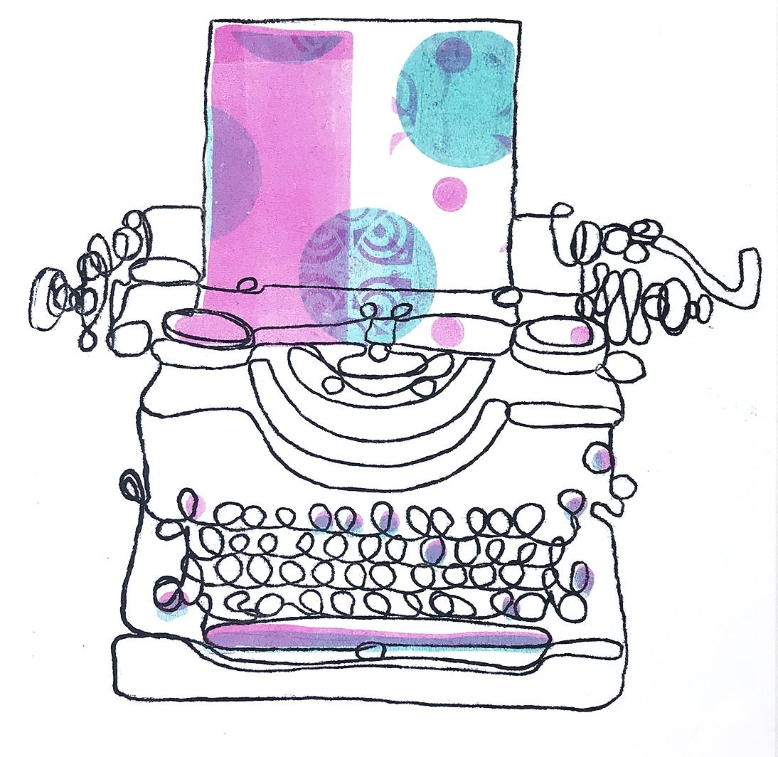 Typewriter Monoprint (number 10)