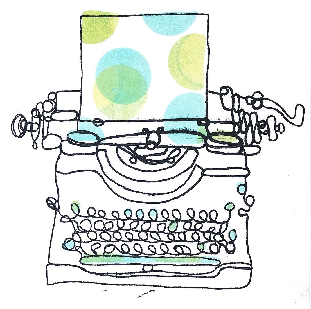 Typewriter Monoprint (number 7)