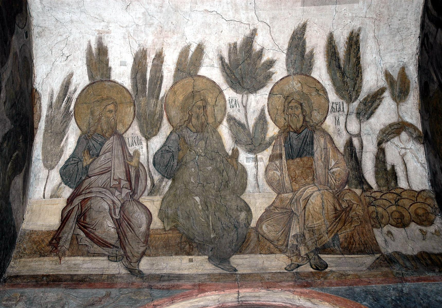 Jacob, Abraham, and Isaac - Andrei Rublev (Russian, 1408)