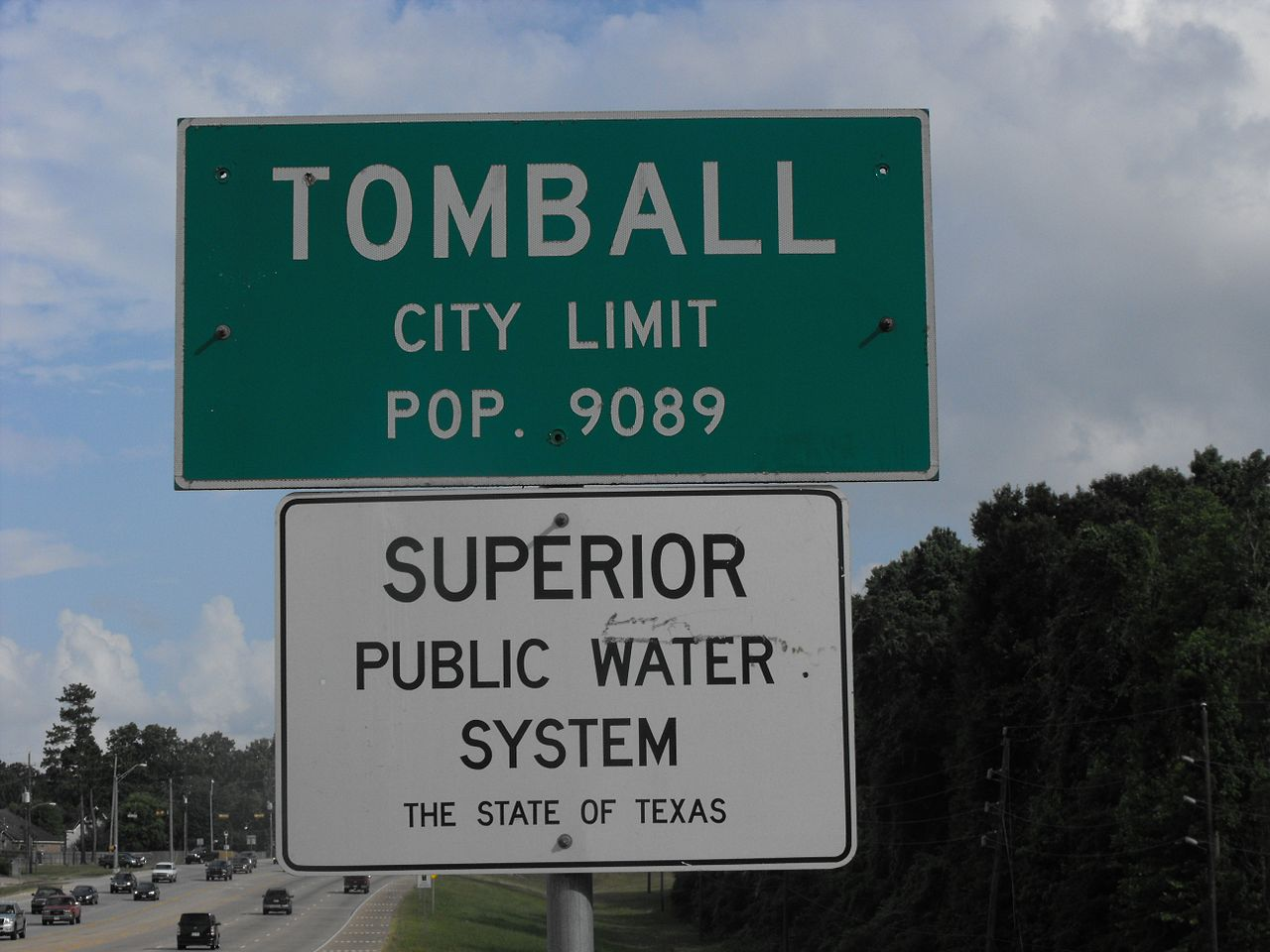 To be fair, it's not all sports. Some cities, such as Tomball, Texas, publicize other interesting facts about themselves.