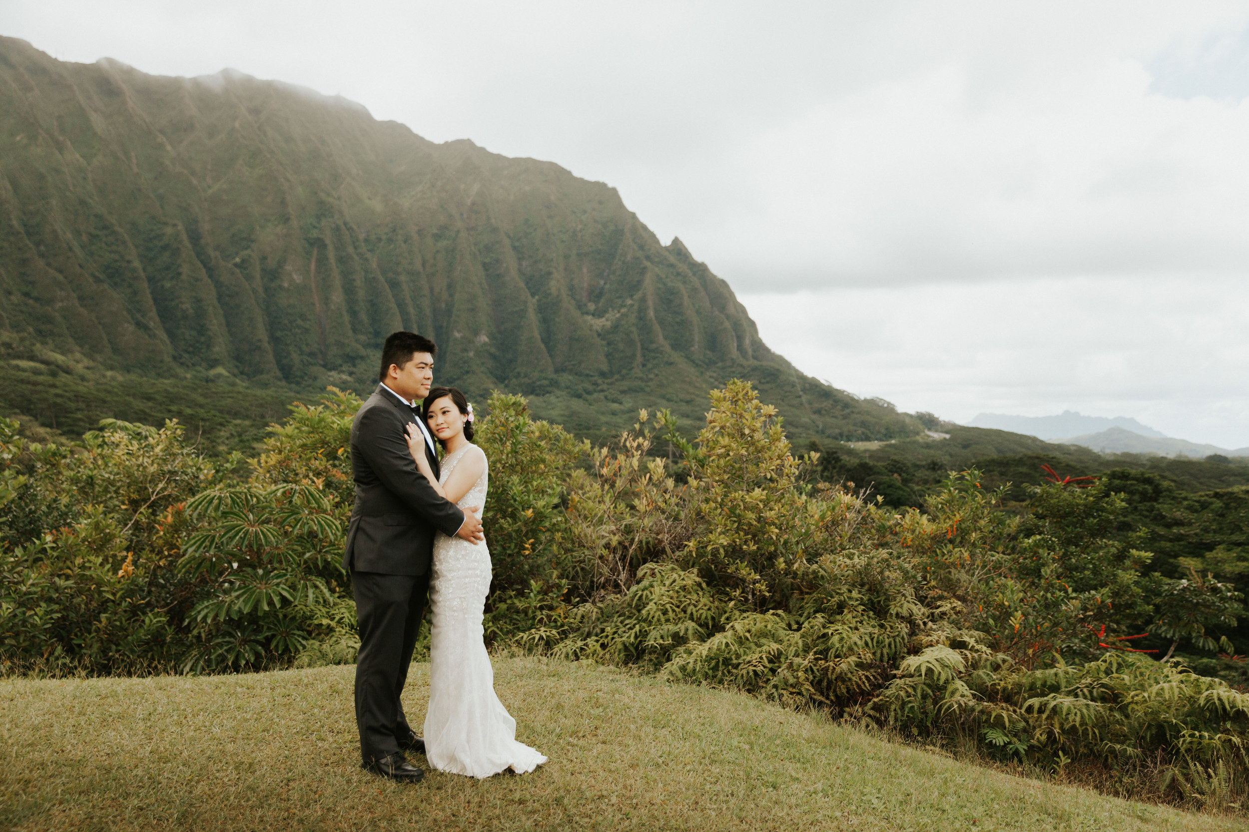 Donna Eric Ho Omaluhia Botanical Gardens Hawaii Wedding