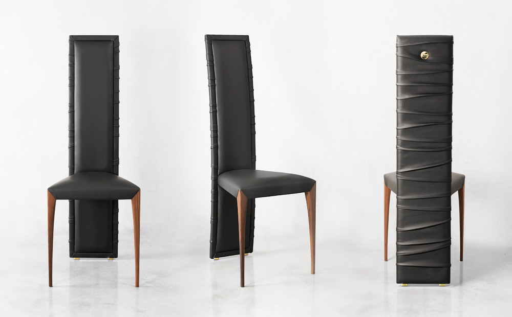 Il-Pezzo-7-Chair-grey-leather-solid-walnut