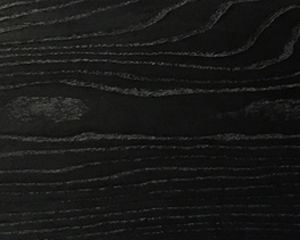 Black stained solid ash