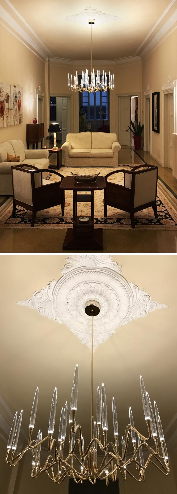 Il Pezzo 3 Round Chandelier in a private villa in Florence