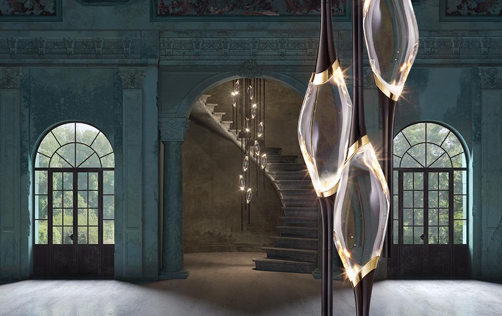 Il Pezzo 12 is a LED chandelier by Il Pezzo Mancante