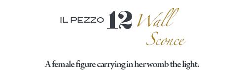 Il Pezzo 12 Wall Sconce by Il Pezzo Mancante