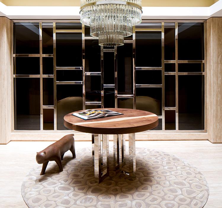 Il Pezzo 6 round Table Villa K Dubai by Il Pezzo Mancante