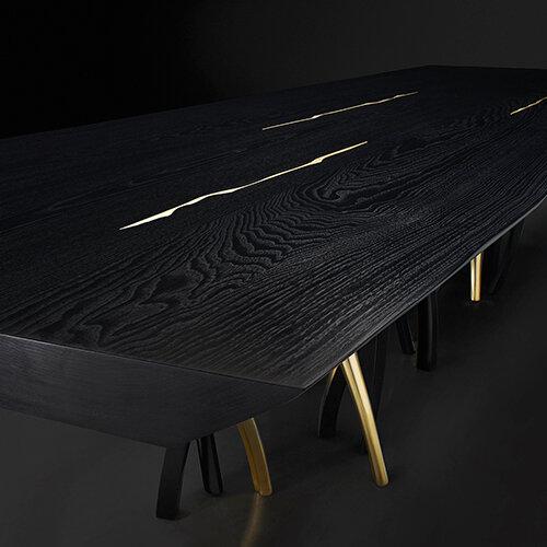 Il Pezzo 8 Black Table by Il Pezzo Mancante