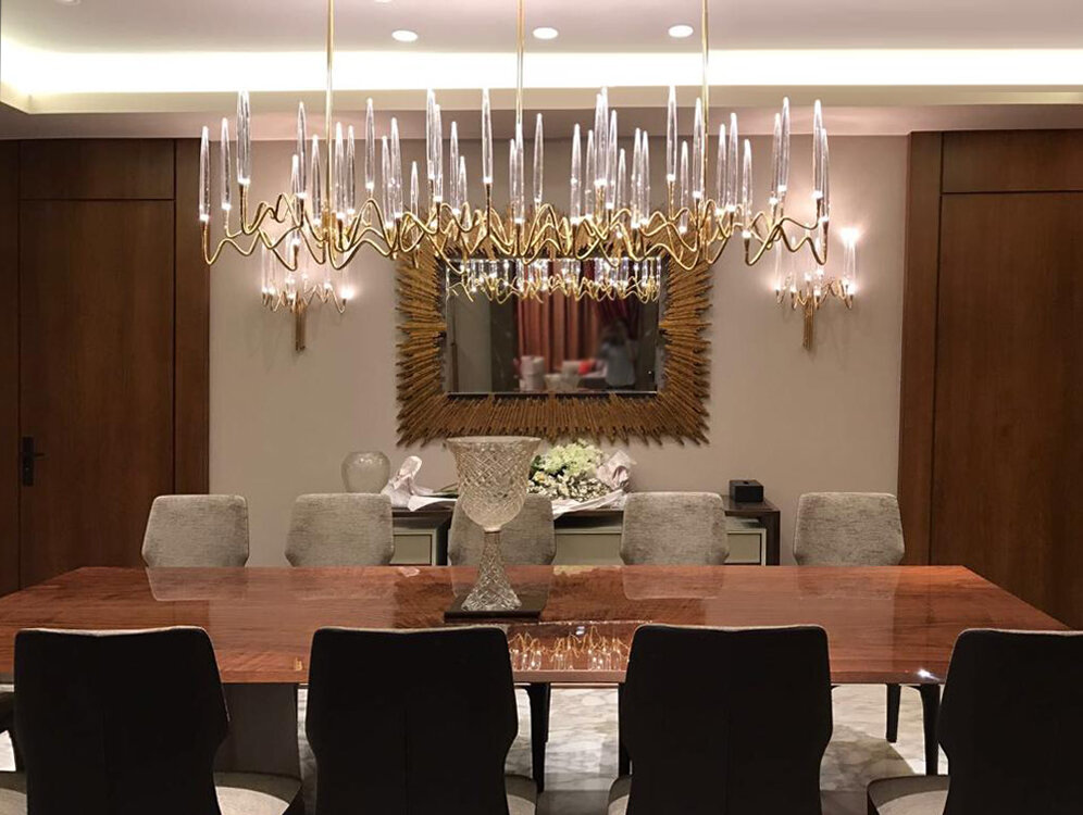 Il Pezzo 3 Long Chandelier and Wall Sconces by Il Pezzo Mancante.jpg