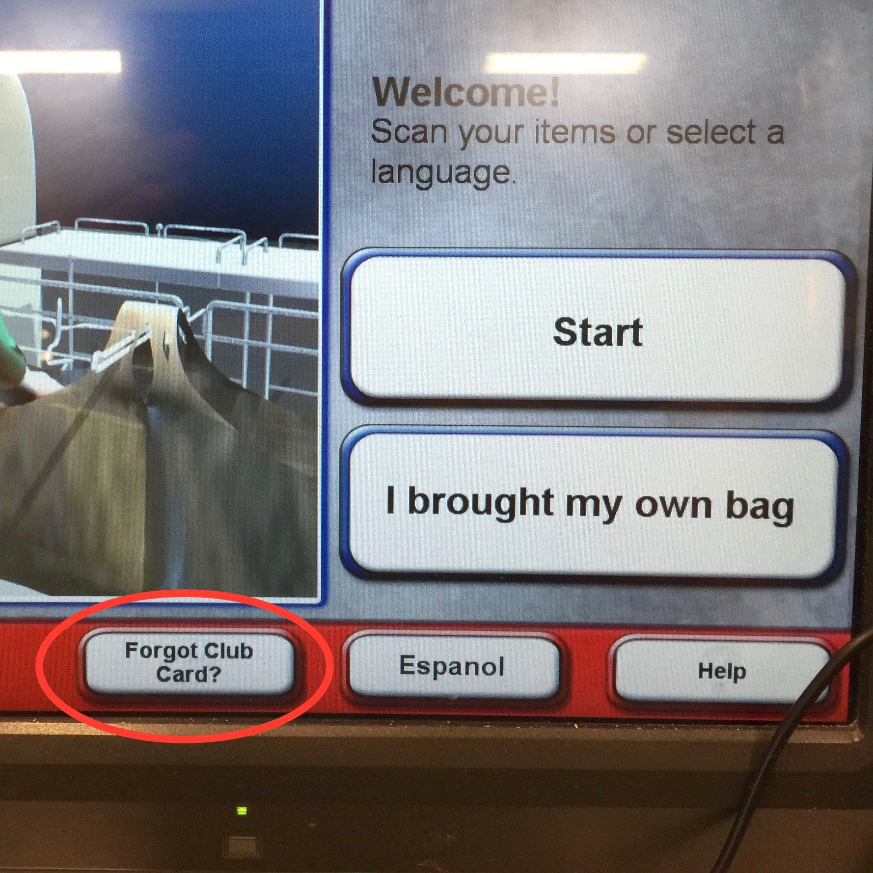 """What does """"Forgot Club Card?"""" mean, specifically? And are there other reasons someone might use this button?"""