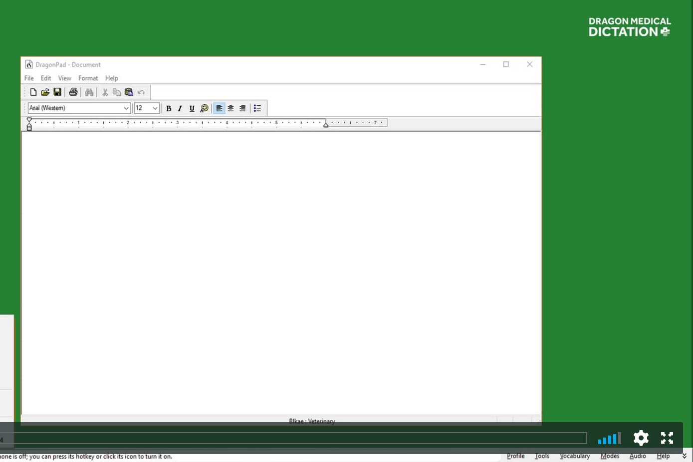 TUTORIAL #12: CUSTOMIZING THE DRAGON BAR   This video teaches you how to use and customize the look and feel of the Dragon Bar, one of the two built-in word processors in Dragon Medical.