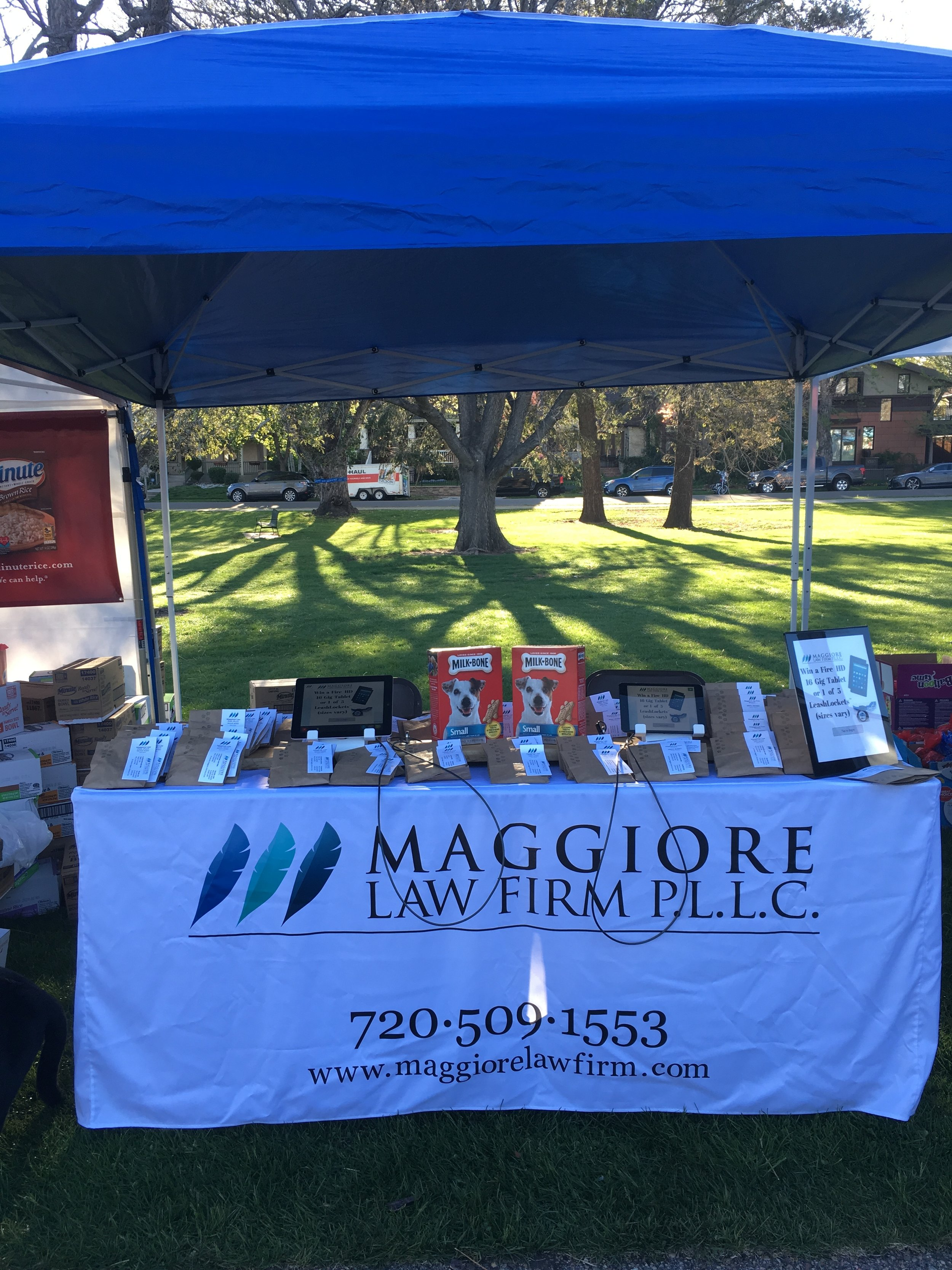 Maggiore Law Firm, P.L.L.C. 24th Annual Furry Scurry Booth
