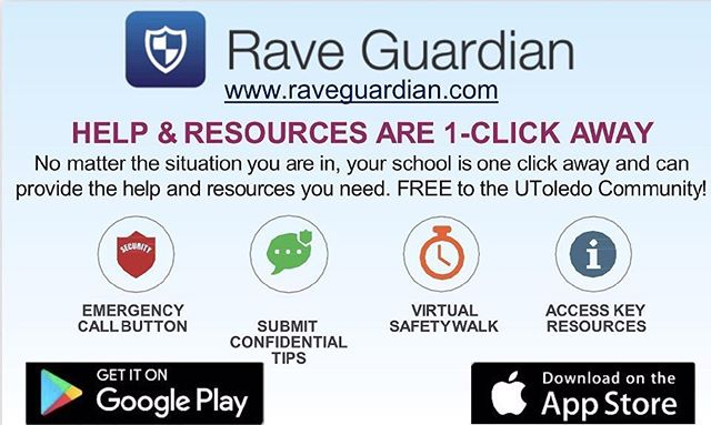 This app is a great idea to stay updated about what's going on on campus & to stay safe! Download it for FREE on your app stores/ google play stores