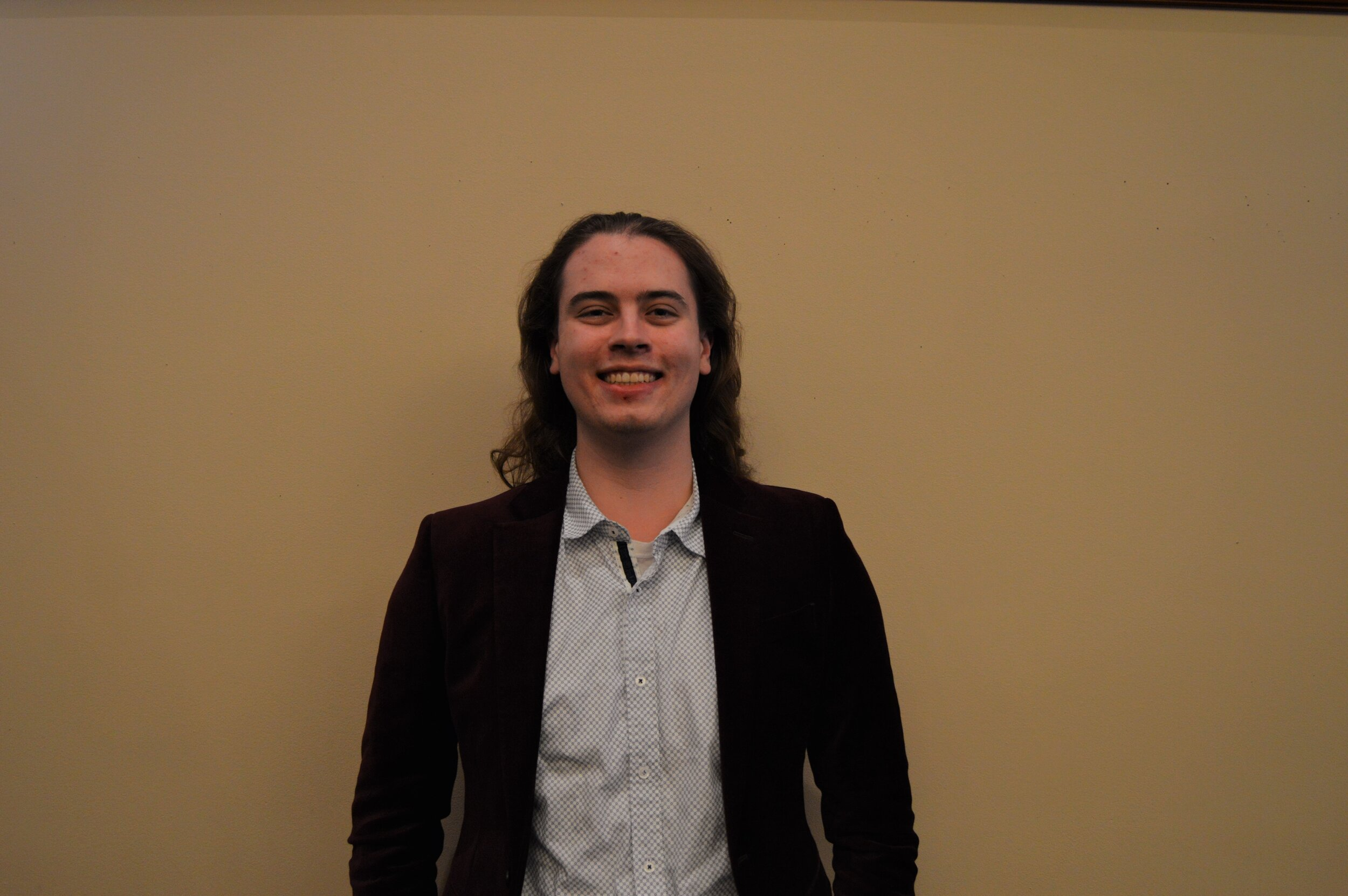 """Robert """"Rory"""" Heizelman - Class and Major: Bioengineering 21'UTSG Position: Elected senator, Public Relations Secretary Email: robert.heizelman2@rockets.utoledo.eduBiography: I am a man of mystery. (WIP)UTSG Committees: Campus Culture, ExternalCampus Involvement: Tau Beta Pi, SAC, Engineers without BordersOn Campus Goals: I'm a nihilist I have no goals. (WIP)Favorite Color: Purple or Blue"""