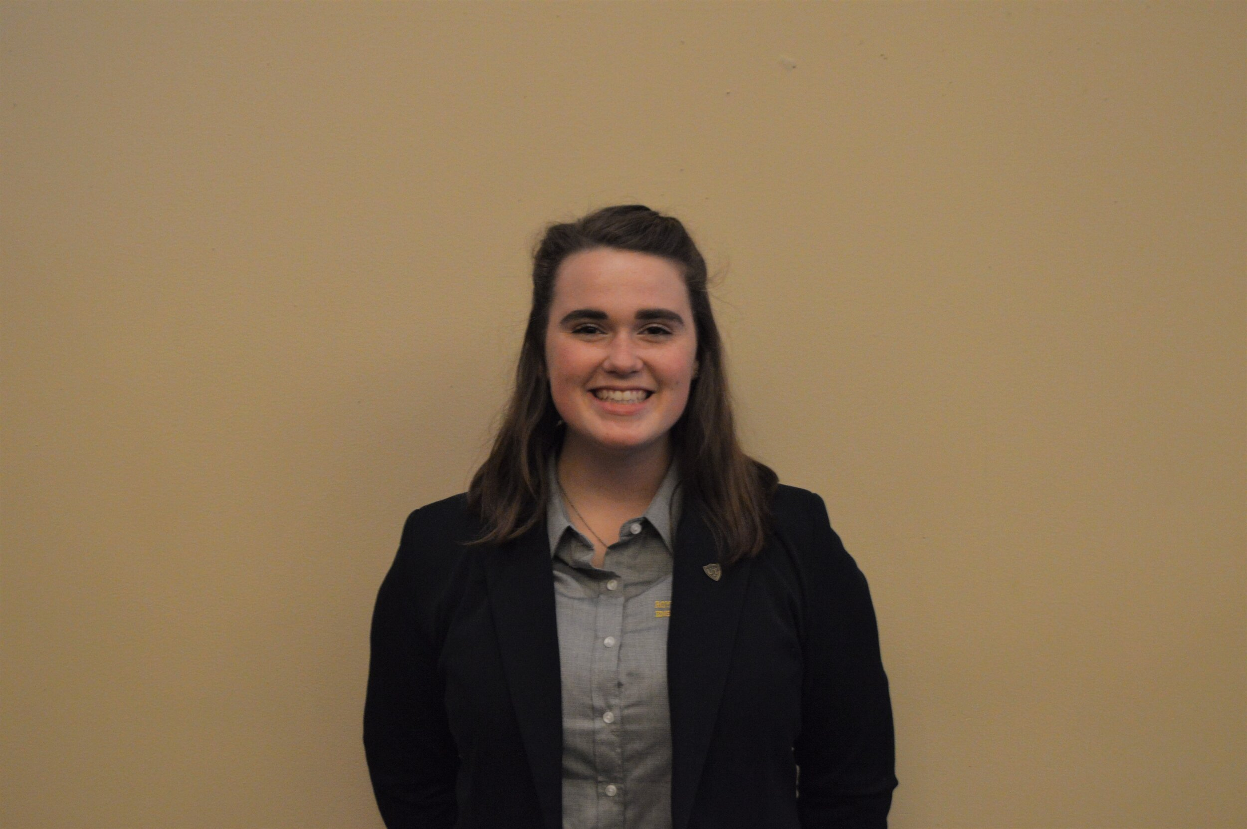 Anna Sophie Walker - Class and Major: Bioengineering '22UTSG Position: Elected Senator, Internal Affairs Committee ChairEmail: Anna.walker@rockets.utoledo.eduBiography: I am a third year bioengineering student from Bay Village, OH (suburb west of Cleveland). Outside of school, I am an avid outdoorswoman - I enjoy cycling, hiking, hammock camping, and kayaking! This past summer, I went on two different three-day-long bike-packing trips; the first was about 240 miles down the Ohio to Erie trail between Cleveland and Columbus, and the second was the entire 150 miles of the Great Allegheny Passage between Cumberland, MD and Pittsburgh, PA. When I'm not on my bike or out in the woods, I love spending my time trying new restaurants (my current favorite is a Cambodian restaurant in CLE, Phnom Penh) and wandering around museums with my friends! After graduation, I'm hoping to take a six-week hiatus before starting a job or master's program in bioengineering to bike across the continental US with my dad - there are currently multiple rail-to-trail projects ongoing with the idea of converting old railroads into a series of linkable bike trails that span across the US and hopefully, there will be enough of it completed in the next three years that we can make it all the way from the Atlantic to the Pacific!UTSG Committees: Campus Culture, Internal AffairsCampus Involvement: Roy and Marcia Armes Engineering Leadership Institute, Levis Leadership UT, CHAARG, Scott Hall Resident Advisor, Presidential AmbassadorsOn Campus Goals: I would like to hear the student voice of UToledo more. UTSG has done a better job over the past year of reaching out to more students than in previous eras, but there are still many UToledo students who have ideas to share or things that they would like to see changed who don't know who UTSG is or how we advocate for improvements in the student experience. By improving outreach, encouraging students to speak up by providing and advertising (better adverti