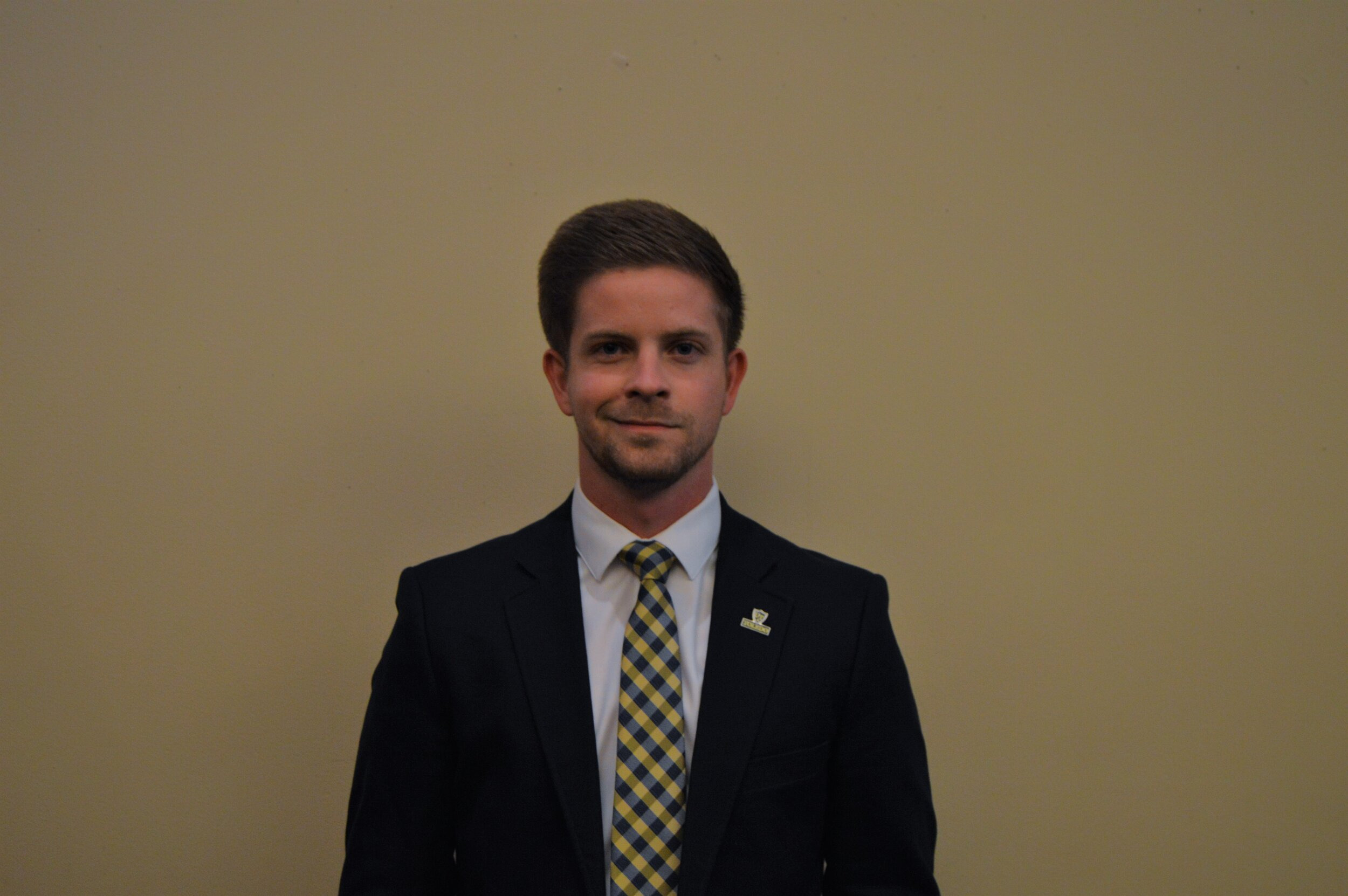Dillon Hansen Horter - Class and Major: Criminal Justice and Political Science 20'UTSG Position: Elected SenatorEmail: Dillon.Horter@rockets.utoledo.eduBiography: I have a passion for serving and helping others achieve their dreams, goals, and desires. In my spare time, I enjoy flying airplanes, as I'm currently working forward getting my private pilot license. After college I hope to work in Law Enforcement, Politics, or College Athletics.UTSG Committees: Campus Culture, Internal Affairs, External AffairsCampus Involvement: Men's Basketball, Presidential Ambassadors, Levis Leadership, H2O, Political Science Student Association, Campus Tour GuideOn Campus Goals: I would love to improve dining options for students that satisfy dietary, health, and nutrition needs. I would also like to start a fund for parking that would eventually lead to expanded parking spaces. In addition, I would like to provide more opportunities for students to share their concerns with Student Government. Finally, I would like to start some kind of de-stress fest during finals week or would love to see Student Government provide study packs for students.Favorite Color: Tower Blue and Rocket Gold