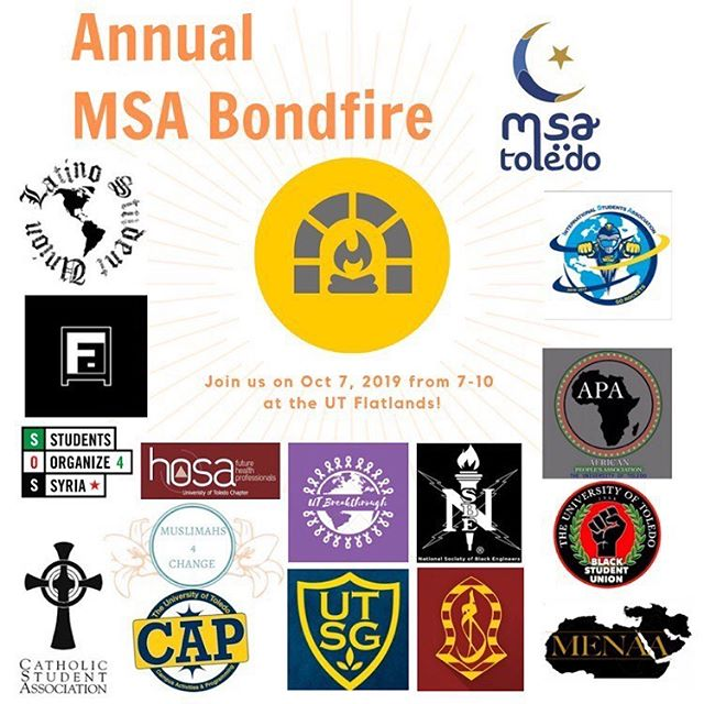 Join us & several other organizations today at MSA's Bondfire in the Flatlands from 7-10!