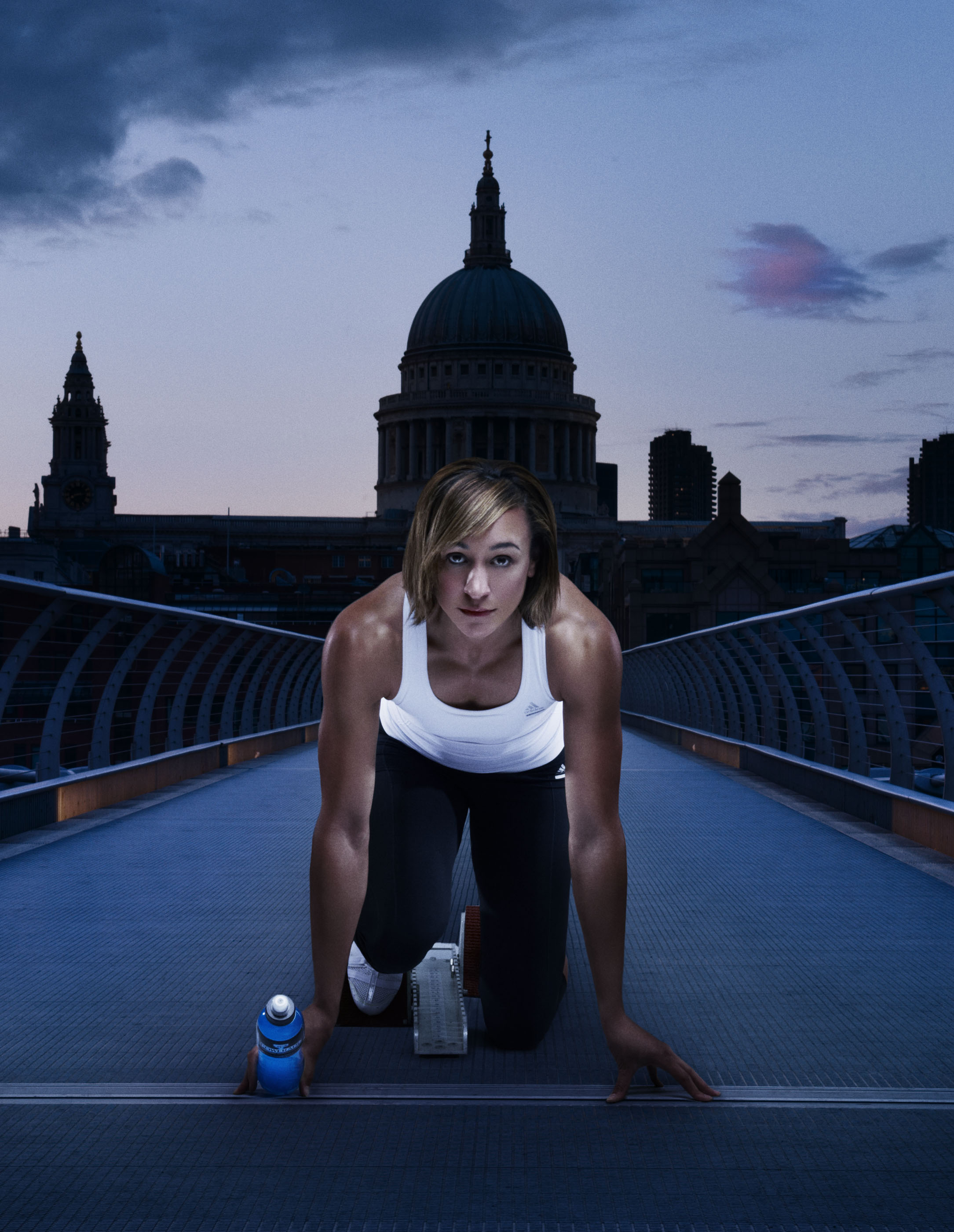 Dame Jessica Ennis-Hill for Powerade - Golden Medallist and Olympian AthleteHair and Makeup by Zuzana RitchiePhoto: Graham Hugheswww.gray-hughes.com