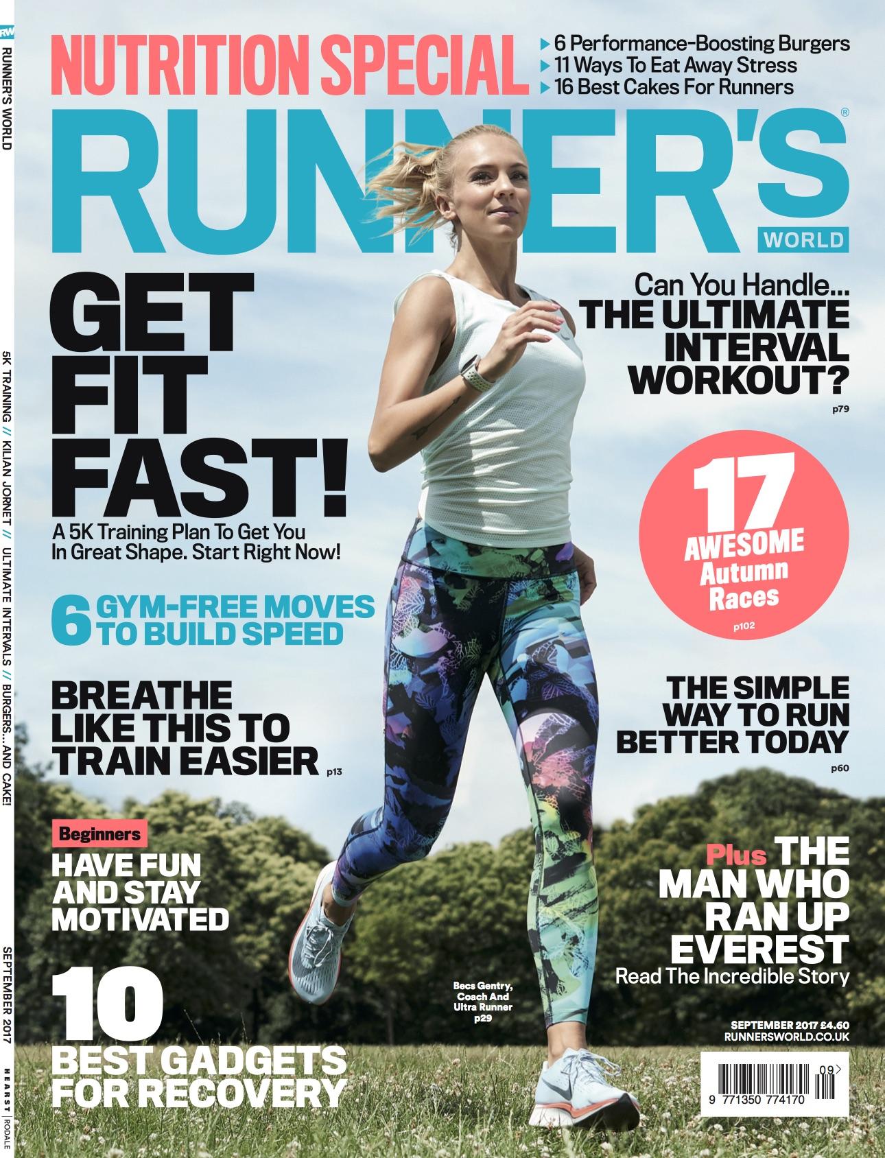 Nike + Run Ambassador & Marathon Runner Becs Gentry for Runner's World Cover - Hair & Makeup by Zuzana RitchiePhoto: Duncan Nichollswww.duncannicholls.co.uk