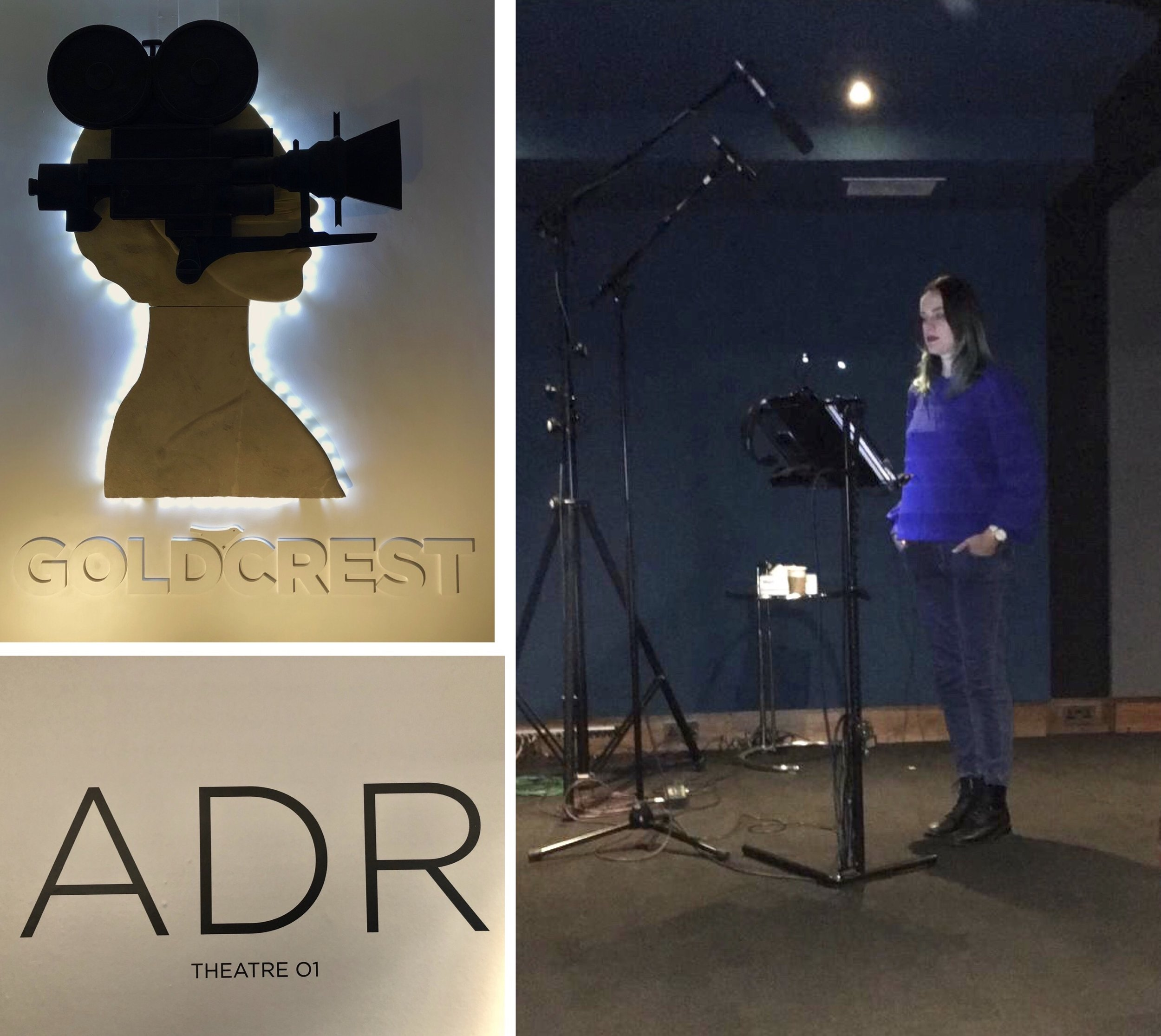 ADR Recording at Goldcrest Films - Voice-acting for the ITV-commissioned movie about the Olympic ice-skating winners Torvill and Dean.