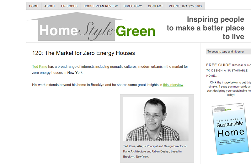 home style green podcast ted kane