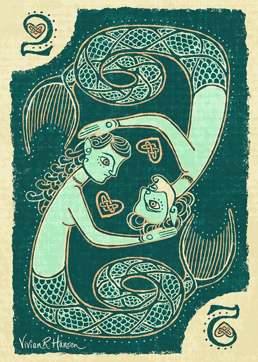 Celtic Mermaid Card