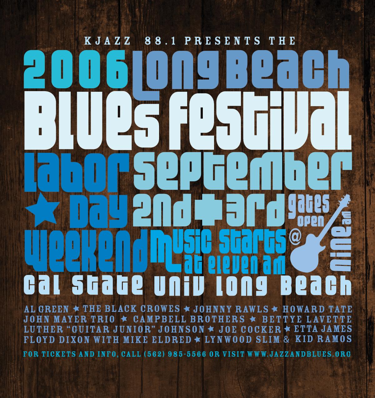 Long Beach Jazz Festival Poster - Simone Design + Develop