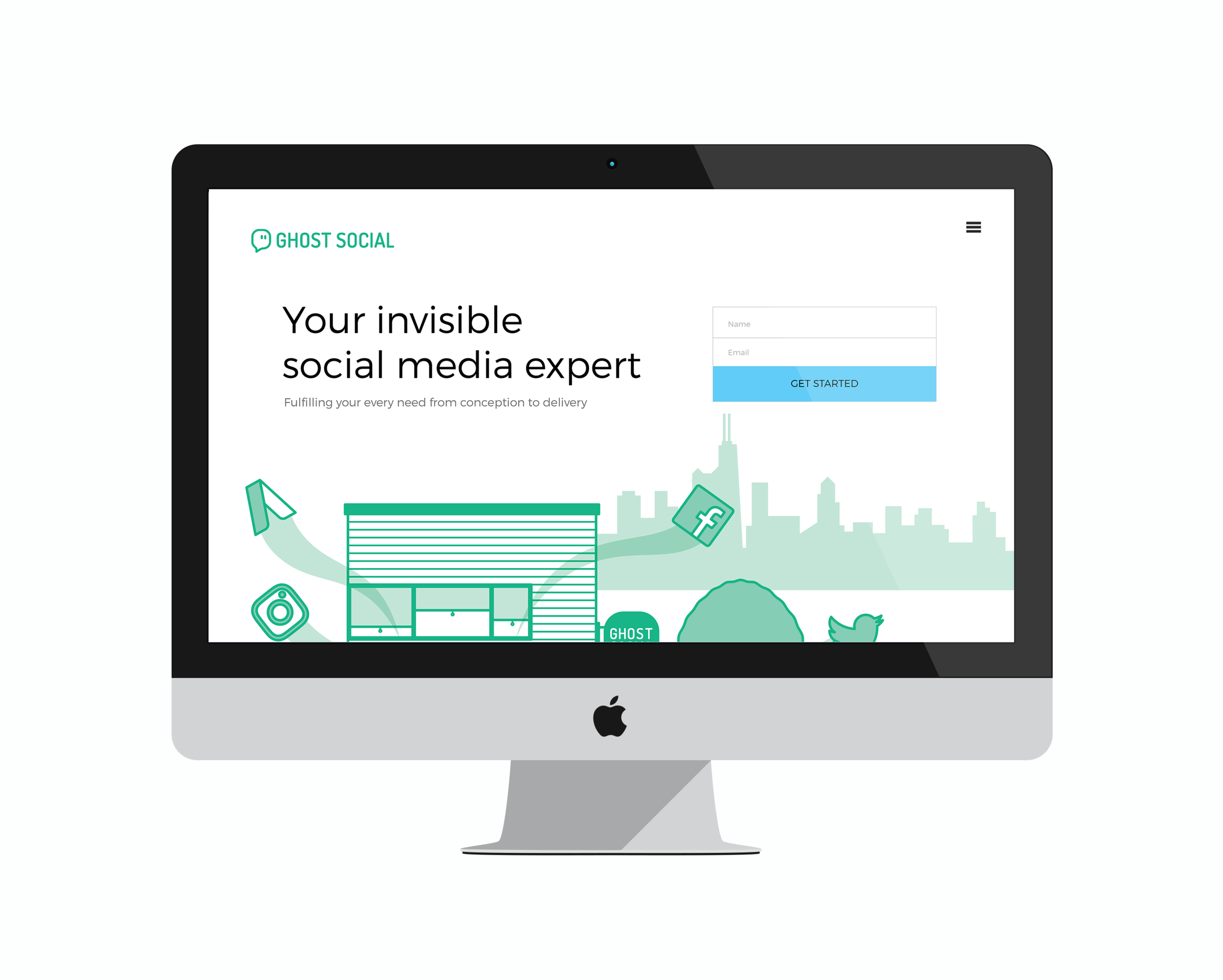 Ghost Social Website Re-Design