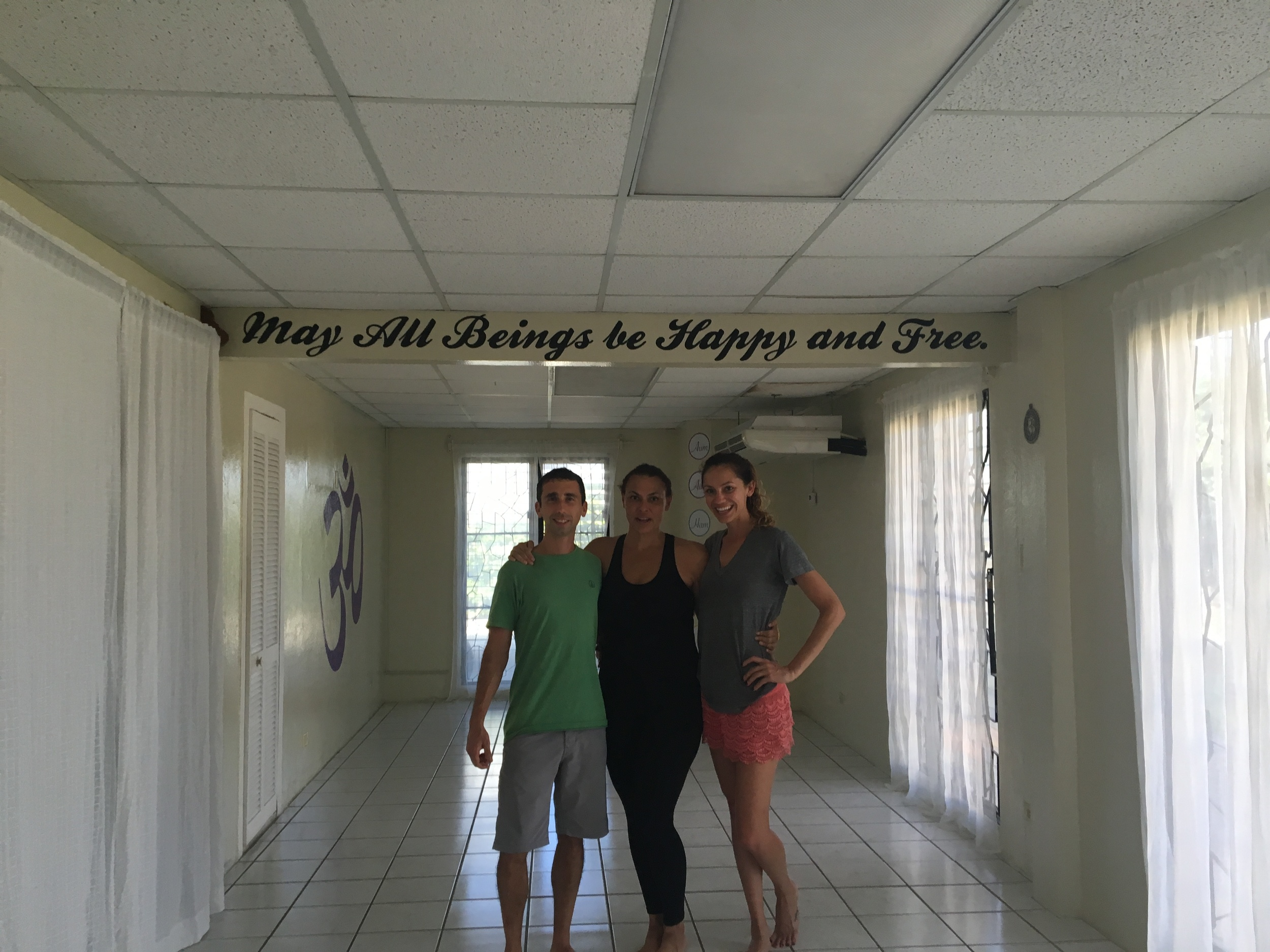 Yoga at Om Shanti Belize.