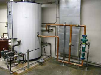 Commercial steam heat system