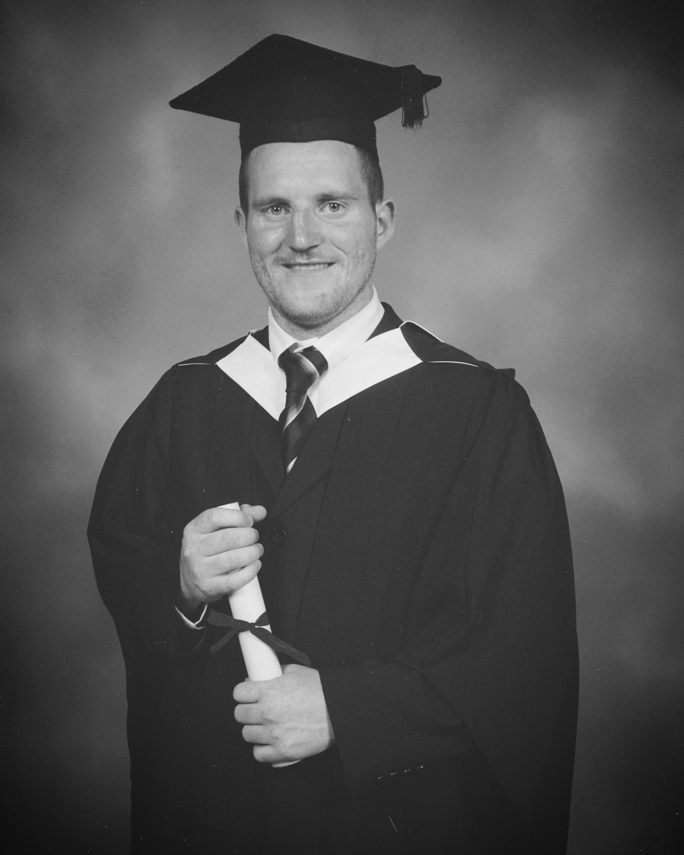 2009-Conor Graduates as Architectural Technician