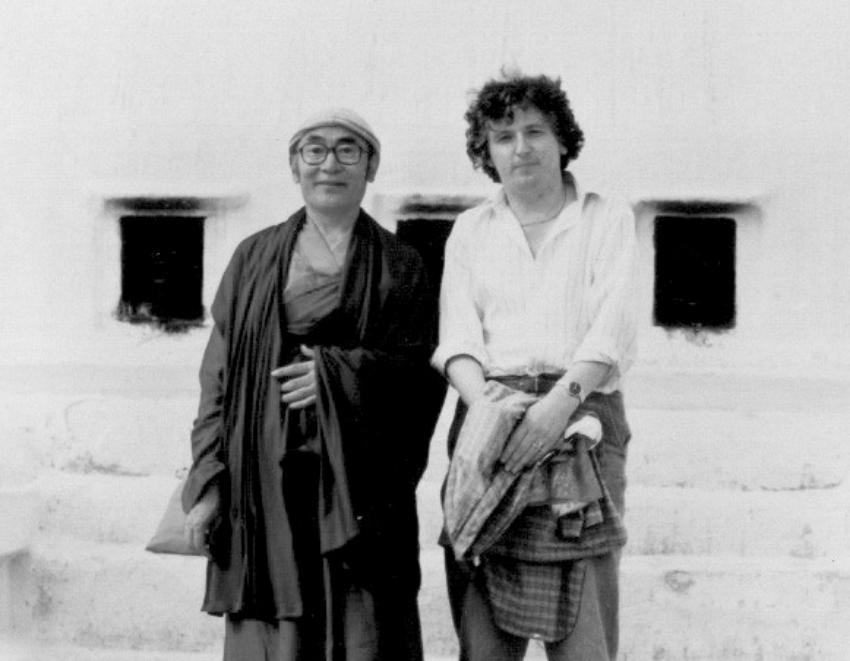 Karma Thinley Rinpoche and Lama Jampa Thaye, Boudanath, Nepal, 1988