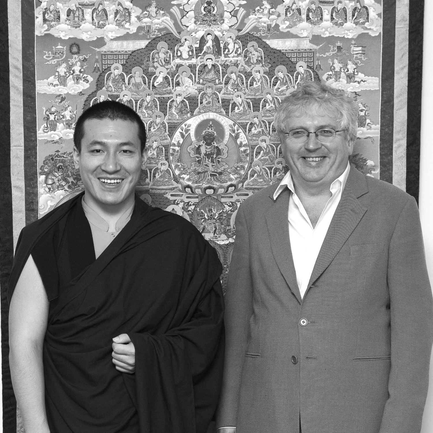 H.H. Karmapa and Lama Jampa Thaye, Kagyu Ling, UK, 2012