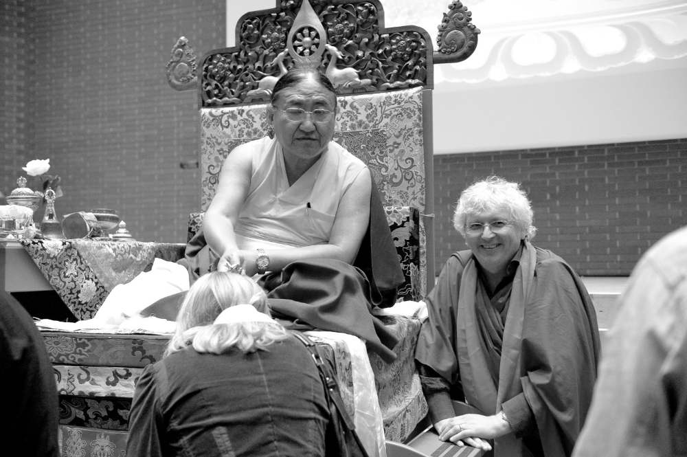 H.H. 41st Sakya Trizin and Lama Jampa Thaye, Kalachakra, London, UK, 2010