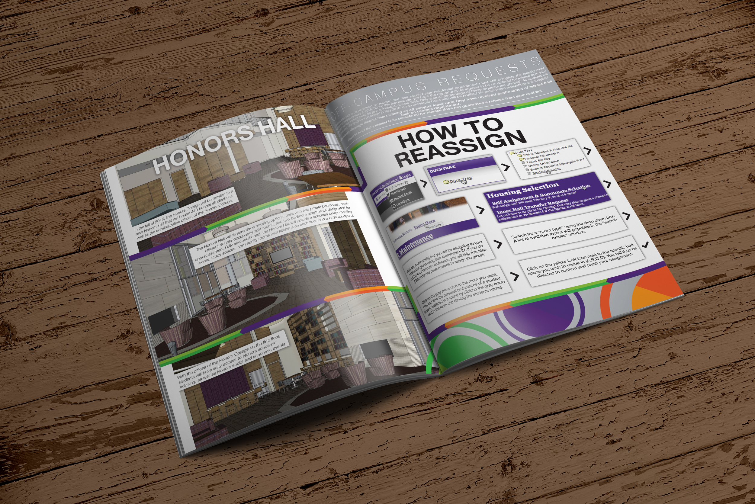 First 2 pages – Basic renderings of a dorm and instruction on how to work the website