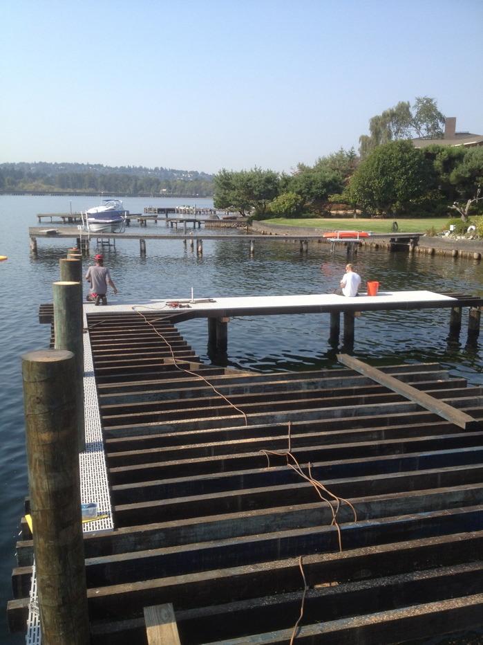 Framing End of Dock