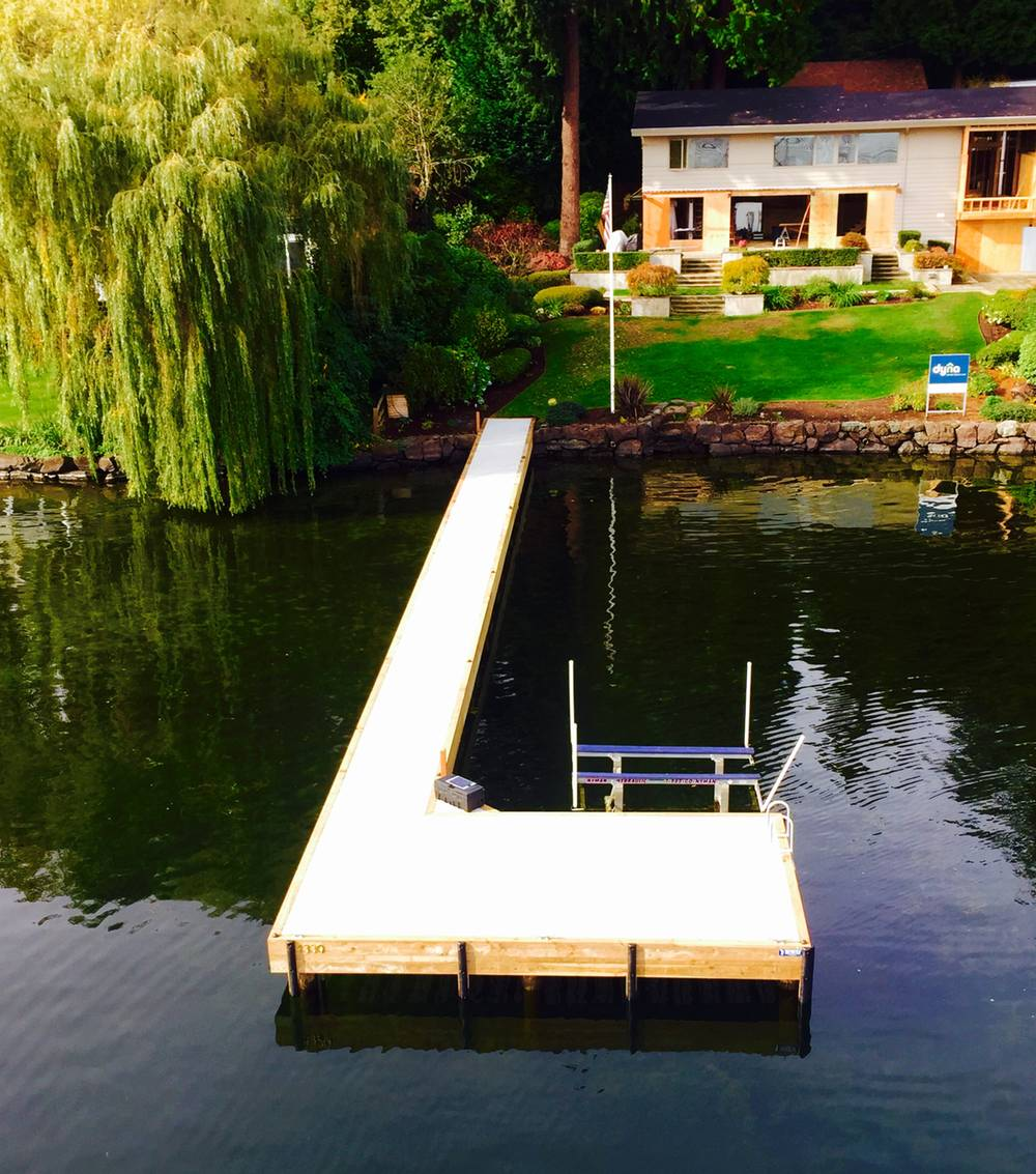 Ell-shaped dock new construction