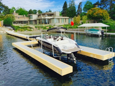 Brand new dock on Lake Washington