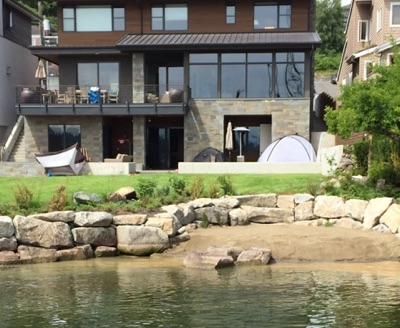 Bulkhead constructed for Lake Washington home