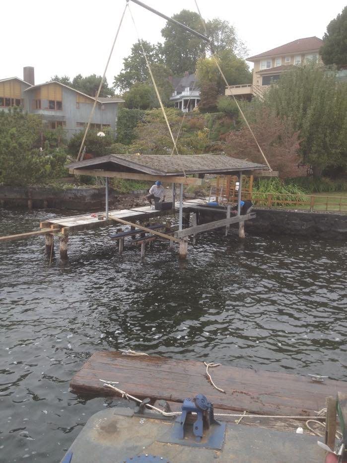 We Remove the Old Dock