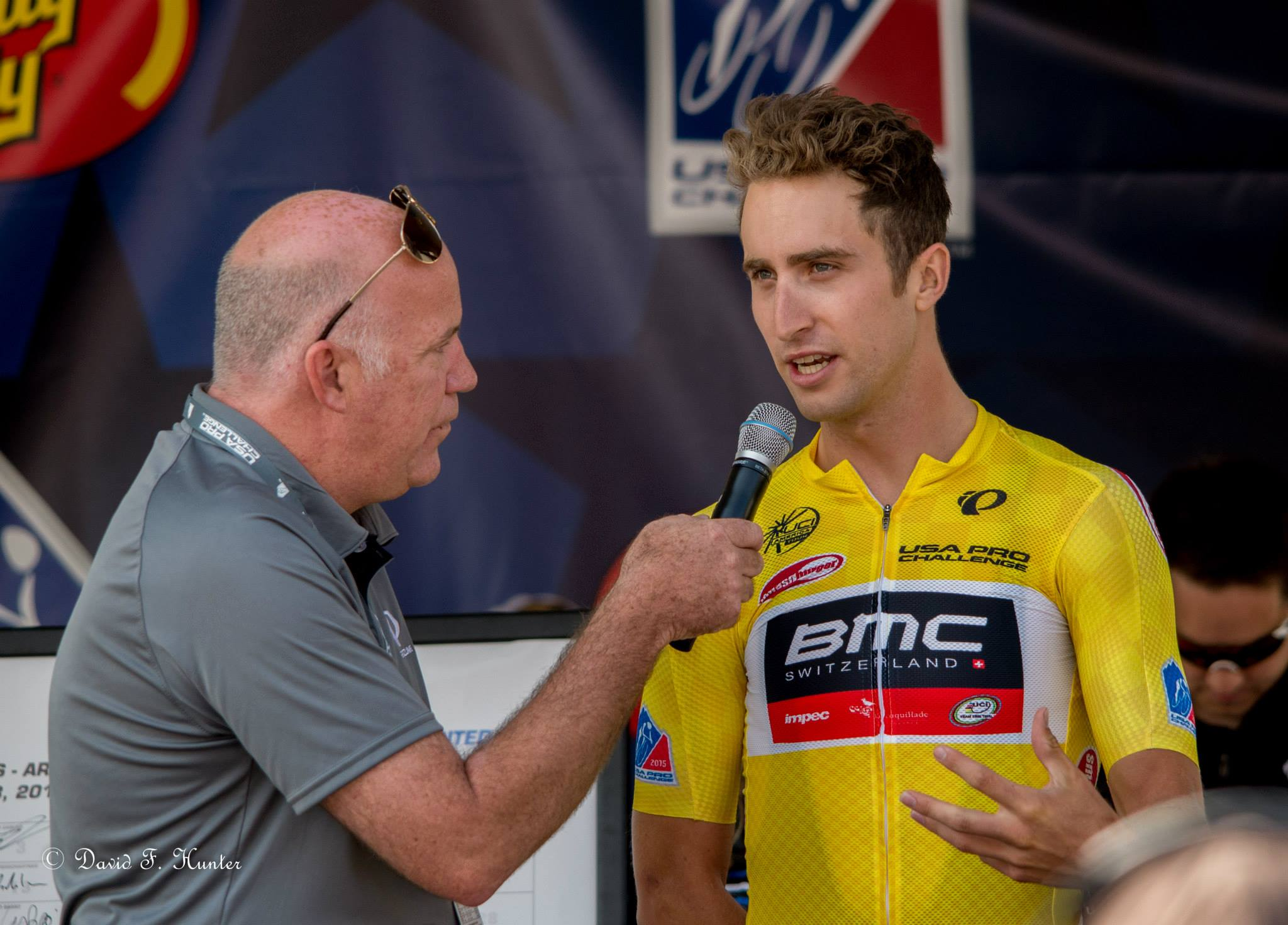 Dave with Taylor Phinney at the USA Pro Challenge in 2015. Photo taken on Facebook by David Hunter