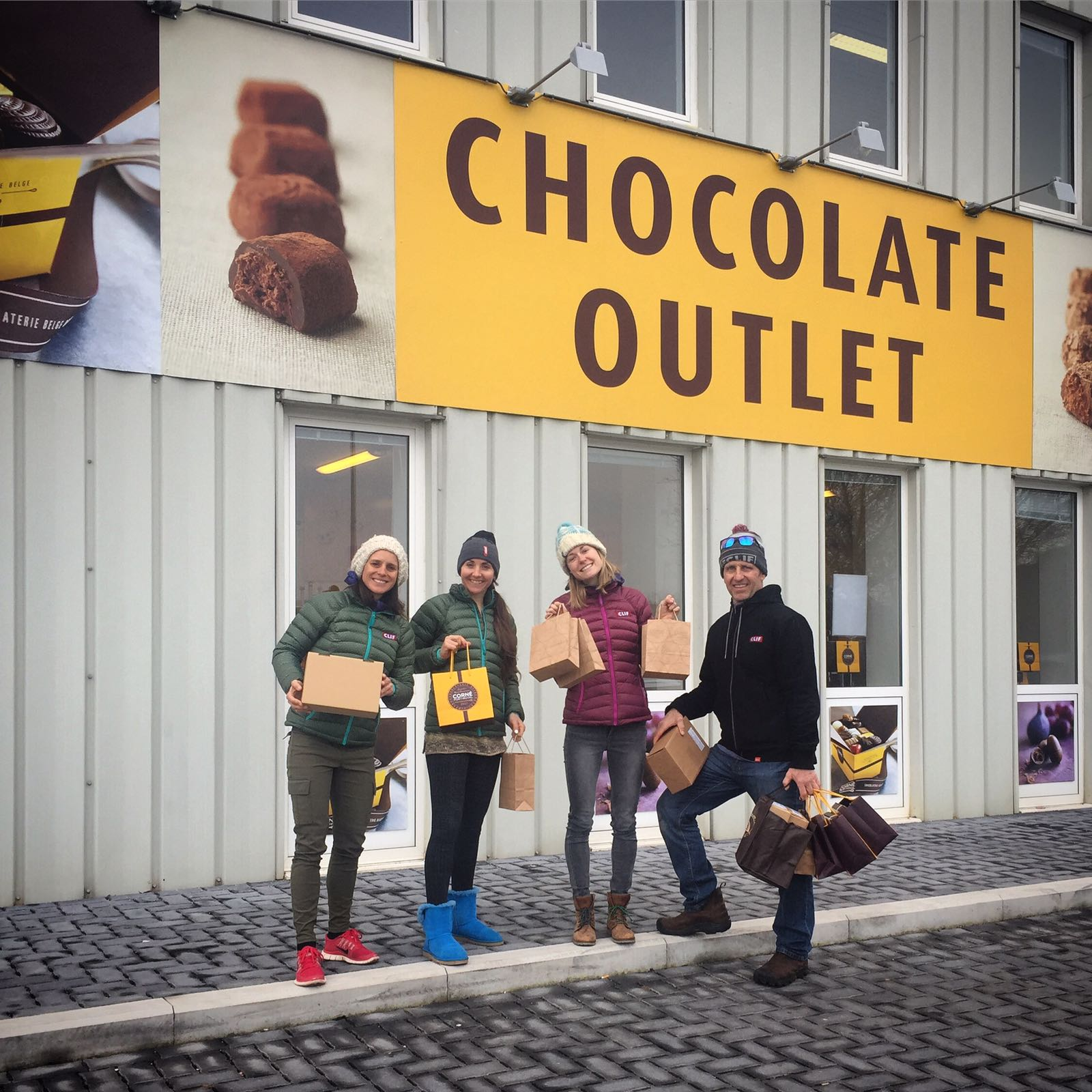 Necessary visit to the Chocolate outlet in Belgium.